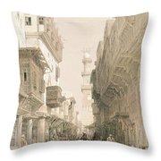 Mosque El Mooristan, Cairo, From Egypt Throw Pillow
