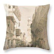 Mosque El Mooristan Throw Pillow by David Roberts