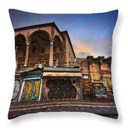 Mosque In Monastiraki Throw Pillow