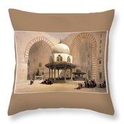 Mosque Of Sultan Hassan Throw Pillow