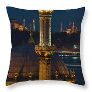 Mosques In Istanbul Throw Pillow by Ayhan Altun