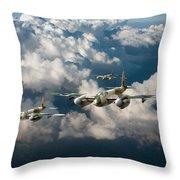Mosquitos Above Clouds Throw Pillow