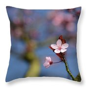 Moss And Blossoms Throw Pillow