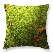 Moss And Leaves Throw Pillow
