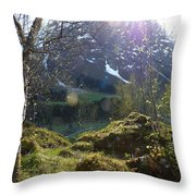 Moss And Sushine Throw Pillow