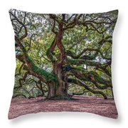 Moss Draped Limbs Throw Pillow