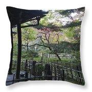 Moss Garden Temple - Kyoto Japan Throw Pillow
