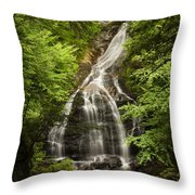 Moss Glen Falls Stowe Vermont Throw Pillow