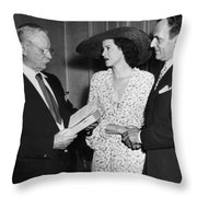 Moss Hart And Kitty Carlisle Throw Pillow