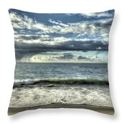 Moss Landing In The Clouds Throw Pillow