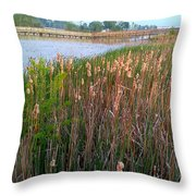 Moss Landing Washington North Carolina Throw Pillow by Joan Meyland