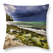 Moss Rocks Throw Pillow