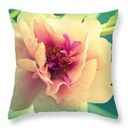 Moss Rose Abstract Throw Pillow