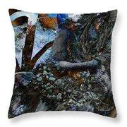 Moss Veils And Illuminated  Throw Pillow