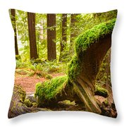 Mossy Creature Throw Pillow