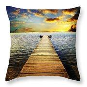 Mossy Point Bridge Throw Pillow