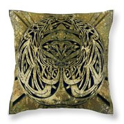 Mossy Sphere  Throw Pillow