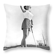 Most Beautiful Golfer Of 1957 Throw Pillow
