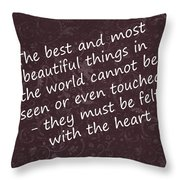 Most Beautiful One Throw Pillow