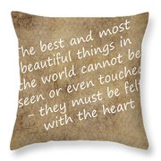 Most Beautiful Three Throw Pillow