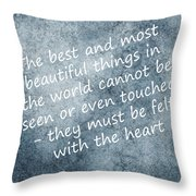 Most Beautiful Two Throw Pillow