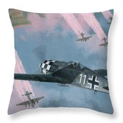 Most Dangerous Game Throw Pillow by Wade Meyers