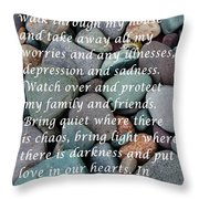 Most Powerful Prayer With Beachrocks Throw Pillow