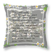 Most Powerful Prayer With Daisies Throw Pillow