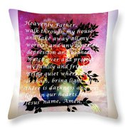 Most Powerful Prayer With Flowers In A Vase Throw Pillow