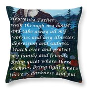 Most Powerful Prayer With Goose Flying And Autumn Scene Throw Pillow