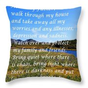 Most Powerful Prayer With Irises Throw Pillow