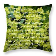 Most Powerful Prayer With Ladies Mantle Throw Pillow