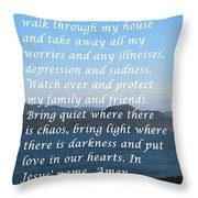 Most Powerful Prayer With Ocean View Throw Pillow