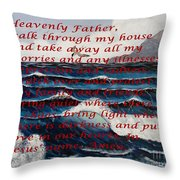 Most Powerful Prayer With Ocean Waves Throw Pillow