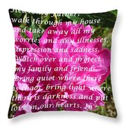 Most Powerful Prayer With Peony Bush Throw Pillow