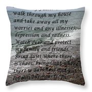 Most Powerful Prayer With Seascape Throw Pillow