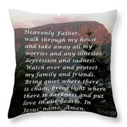 Most Powerful Prayer With Sunset And Moon Throw Pillow