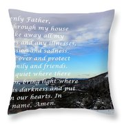 Most Powerful Prayer With Winter Scene Throw Pillow