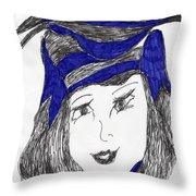 Mostly Black Throw Pillow