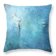 Mostly Blue Throw Pillow