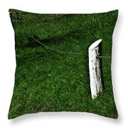 Mostly Green Throw Pillow