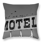 Motel For The Birds Throw Pillow