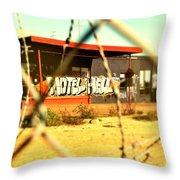 Motel Hell Throw Pillow