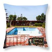 Motel Pool 3 Throw Pillow
