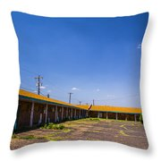 Motel Rooms 2 Throw Pillow