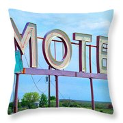 Motel Sign - Arrow Throw Pillow