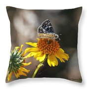 Moth And Flower Throw Pillow