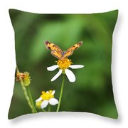 Moth On Weed Throw Pillow