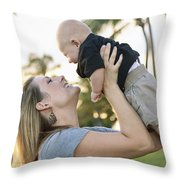 Mother And Baby Throw Pillow by Brandon Tabiolo