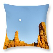 Mother And Child And Moon 21 Throw Pillow